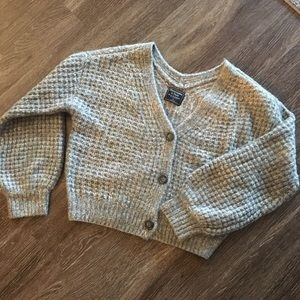 Abercrombie cropped knit sweater